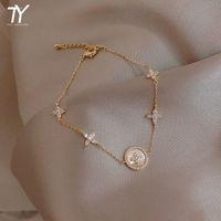 2021 Nuova modalità Micro Zirkoon Jewelry da donna coreana Bracciale in lega classica in lega di forma classica