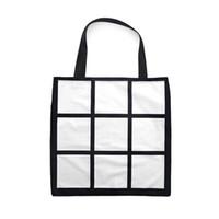 Sublimation grille fourre-tout sac double côtés vierge blanche bricolage thermopl transfert de chaleur sudoku sac de shopping gridview grand stockage réutilisable sacs à main DHL