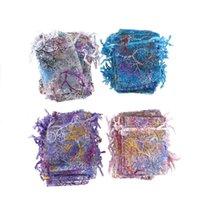 جديد حار بيع 50 قطعة / الحزمة 7x9 سنتيمتر الجملة كورادة الأورجانزا مجوهرات الحقيبة حفل زفاف لصالح أكياس هدية
