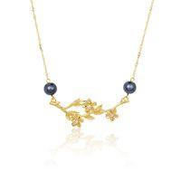 Anhänger Halsketten von Modeschmuck übertriebene Strass Perle Blatt Blume Hawaiian Halskette Großhandel für Frauen Geschenk