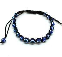 Мода смола бусина зла синий глаз подвески браслет многоцветные веревки веревка браслеты браслеты для любовников регулируемая длина 138 O2