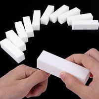 5pcs / Set Durable Sponge Nail File Bianco Levigatura tampone Blocco Acrilico Blocco acrilico Polish Pedicure Manicure Nail Art Tool