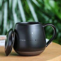 Nuovo 16oz nero Starbucks Coppa di lusso coppia di lusso tazze in ceramica tazza mattina latte caffè caffè colazione boyfriend papà regalo prodotto