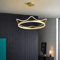 LED Crown Pingente Lâmpada Moderna Minimalista Criativo Luxo para Children's Room Berçário Bedroom Candelabro Luz Interior Luminária