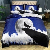 Conjuntos de ropa de cama LUJER CAMA DE RODANDO 3D Diseño 3D Duvet Funda y almohada Sham King Reina Super Twin Twin Tamaño 140 * 200 cm Casa de animal Textil