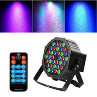 Venda quente 36w 36-LED RGB Remote / Automático / Controle de Som DMX512 Alto Brilho Iluminação Iluminação Mini DJ Bar Festa Top Quality Stage Lâmpada