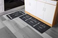 Anti fatiga Cocina Colinas de suelo Memoria Espuma gruesa alfombras amortiguadas para la cocina Conjunto de 2 no resbalones Impermeable Comodidad Mat