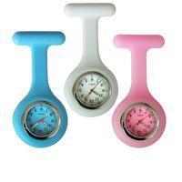 Nieuwe Mode Volledige Kleuren Ontwerp Siliconen Rubber Zachte Pin Verpleegster FOB Pocket Horloge Unisex Dames Dames Doctor Medical Hang Horloges