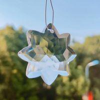 Novo Clear Octogonal Cristal SunCatcher Chandelier Cristais Prismas Pingentes Pendurado Ornamento Casa Decoração Iluminação Acessórios 40mm H JllxDW