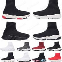 حار 2020 عارضة جورب الأحذية سرعة المدرب الأسود الأحمر الثلاثي الأسود الأزياء الجوارب الأحذية الرياضية حذاء رياضة المدرب