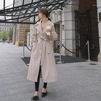 معاطف الخندق نساء مزاج من هان طبعة زراعة الأخلاق تظهر منفذ معطف رقيقة خلال الربيع والخريف الرياح أنيقة معطف 1