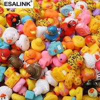 Esalink 100 pcs brinquedos de banho aleatório pato multi estilos pato banho bebê banheiro bebê água brinquedo piscina flutuante brinquedo pato 201015