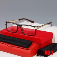 إطارات بصرية الأزياء الجاموس القرن نظارات إطار نظارات مستطيل النظارات إطارات الرجل للجنسين حالة نظارات عالية الجودة وصندوق