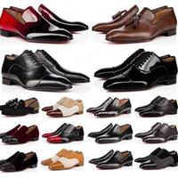 Luxurys Дизайнеры мужские Обувь мужская Обувь красный Нижний Повседневная Обувь Мэтт Патент Кожаный Круглый Ног на скольжениях Плоские Бизнес-кроссовки 38-47