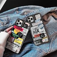 Preço etiqueta graffiti espelho de volta caso protetor de código de barras para iPhone 12 mini 11 pro max xr xs 6s 8 plus