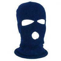 Radkappen Masken 3 Löcher Warme Wintermaske Balaclava Neckwärmer Ski Kopfbekleidung Therme
