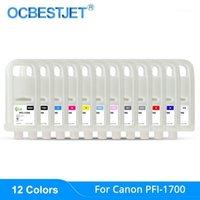 PFI-1700 PFI1700 PFI 1700 пополняемый чернильный картридж с чипом для принтера Canon Pro-2000 Pro-4000 Pro-6000 (12 вариантов цвета) 1