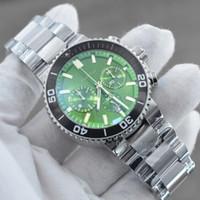 2021 Nuevos relojes para hombre Relojes de cuarzo Movimiento de cuarzo Reloj de cronógrafo Personalizado Cara verde Banda de goma Reloj masculino Montre Homme