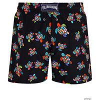 Fashion-mens di estate nuotare breve Vilebrequin abbigliamento bermuda spiaggia TARTARUGHE recenti estate pantaloncini casuale uomini moda Mens shorts Stile