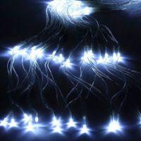 210 LED Fairy Net Light Mesh Gordijn String Bruiloft Kerstfeest Decor Witte gloednieuwe en hoge kwaliteit vakantie verlichting