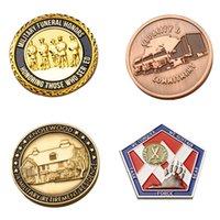 Estados Unidos Army Metal Emblema dos EUA Crachá Exército Comemorativo Medalha Pintado Bandeira Medalha Comemorativa Coleção Coleção Favores Personalizado VTKY2064