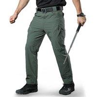 Pantalones al aire libre Senderismo de verano Seco rápido A prueba de agua Rip-Stop Cargo IX9 Tactical Trabajo Pantalones Hombres Caza Ropa de pesca