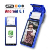 Yazıcılar PDA 58mm Bluetooth Termal Makbuz Yazıcısı 3G WiFi Mobil Sipariş Terminali El Android 8.1 Ücretsiz Uygulama Levers