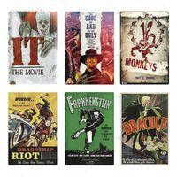 2021 Classic Film King Kong Métal Affiche en métal Signe métal Plaque Film célèbre vintage panneau d'étain Panneau mural pour bar Pub Club Homme Cave Chambre Signes