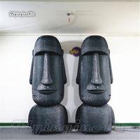 Retratos infláveis personalizados da estátua da estátua de Moai 3m Retratos na ilha de Páscoa explodem o balão misterioso da escultura de pedra para a mostra do evento