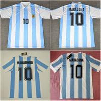 1978 1986 1994 الأرجنتين لكرة القدم جيرسي دييغو # 10 Maradona Retro Version 86 78 94 Maradona Caniggia Batistuta Football Commir