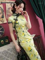 Abbigliamento etnico 2021 Vietnam Ao Dai Patchwork Dress per donna Costumi tradizionali cinesi Qipao Cheongsams Flower femmina Outfits orientali1