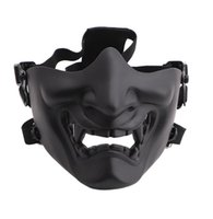 Scary Smiling Smiling Smiling Half Face Masque Forme Réglable (Tactique) Protection de chapeaux Halloween Costumes Accessoires GD1037