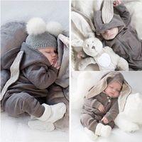 Newborn Baby Tomber Babying ухо с капюшоном комбинезон одежды детская девушка принцесса эмостазы девушка мальчик кролик молния боди одежда