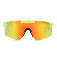 Novos óculos de sol enorme polarizados espelhados lente vermelha tr90 quadro uv400 proteção homens esporte pit viper