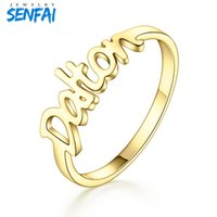 Personality Custom Jewelry Fashon Trendy Custom Name Ring Stainless Steel Rings for Couple Lover Best Gift Top Quality
