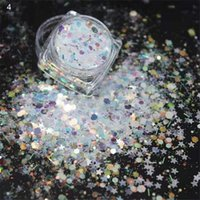 Ongles paillettes 1kg océan star siries Siries Sparcice Sequins Haute luminosité Iridescent Manucure Diy Décoration 3D Crafts Dust M0bzy