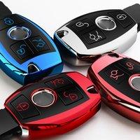 لينة TPU حالة مفتاح السيارة لمرسيدس بنز الملحقات C Class W204 GLC 260 C200 CIA GLA W205 W212 C S E فئة فئة كاشان المفاتيح