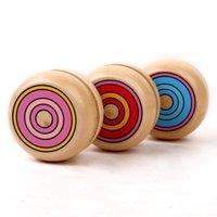 يويو ميكس ماجيك اللون الاطفال بالجملة 10 قطع سلسلة جولة الكرة تدور ألعاب خشبية المهنية للأطفال