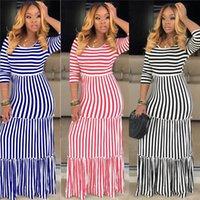 Kadınlar Artı Boyutu Günlük Elbiseler Gevşek Moda Etek Maxi Elbise Uzun Kollu Tasarımcı Giyim Yaz Güz