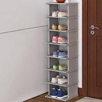 Gabinete de sapata de sapata de sapato vertical Armário de sapata de sapata de sapato de montagem de salvador de calçados de calçados