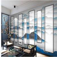 пользовательские 3d фото обои Новый китайский стиль пейзаж обои фоне стены 3d стереоскопические обои