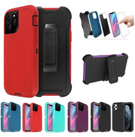 3 en 1 couverture téléphonique caoutchouc Hybride Hybride Heavy Defend Case antichoc avec clip pour iPhone 11 12 Pro Max iPhone 7 8plus xs max xr Samsung S20