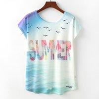 2020 New Fashion Summer Estate Donne Geometriche Signore Cute Girls Animal Stampa O-Collo Maniche corte T-shirt allentate Rupas Fementa # F7