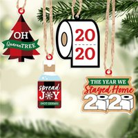 Рождественские украшения украшения бумаги кулон туалетная бумага 2020 2021 буквы орнамент рождественских дизайн подвески подвесные игрушки Party Favors E111705