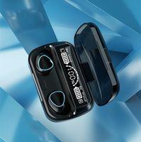 M10 TWS sem fio Bluetooth v5.1 fone de ouvido mini fone de ouvido estéreo esporte esporte touch key diodo emissor de diodo emissor de diodo emissor de luz de exibição à prova d'água com microfone