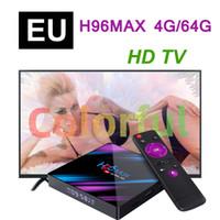 Europa H96 Max RK3318 Caixa de TV Android 4GB 64GB 4K quad-core 2.4g 5g wifi bluetooth4.0 m3u media player set top box