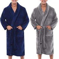 Nuevo alumno para hombre invierno caliente peluche de peluche masculino interior hogar ropa de ducha hombres largo sueño robe abrigo peignoir homme1
