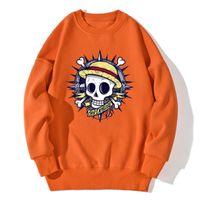 Erkek Hoodies Tişörtü Kafatası Tek Parça Bırak Omuzlar Erkekler Kazak Streetwear Harajuku Giyim Dış Giyim Kazaklar Tops Sonbahar Kış