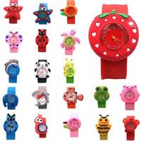 Silicone dos desenhos animados relógios inteligentes para crianças Animais Animação Pat assistir 22mm impermeável wearable crianças relógios eletrônicos 57 cores