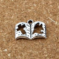 200 stks / partij Hot Sell Antique Silver Enkel Side Cross Book Legering Charm Hangers Sieraden DIY 17x13.5mm